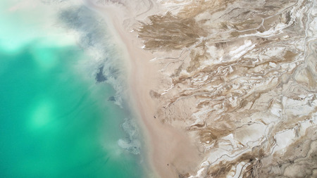 Aerial landscape from the drone Stock Photo
