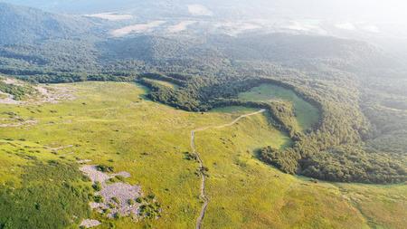 Aerial landscape - Spring hills