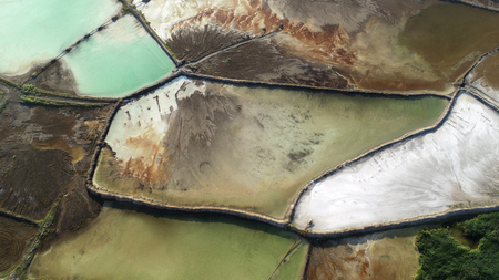 Aerial landscape from the drone Banco de Imagens