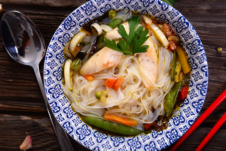 Pho soup - asian traditional dish