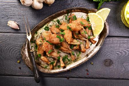 Ancas de rana al horno