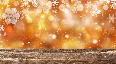 Christmas table background Stock Photo