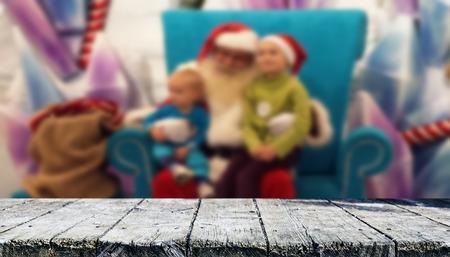 Christmas table background Standard-Bild - 114120260