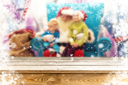 Christmas table background Standard-Bild - 114120261