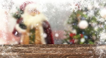 Christmas table background Standard-Bild - 114120262