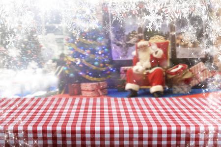 Christmas background table Standard-Bild - 114120800