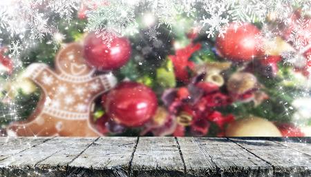 Christmas table background Standard-Bild - 114120804