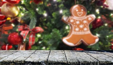Christmas table background Standard-Bild - 114120805