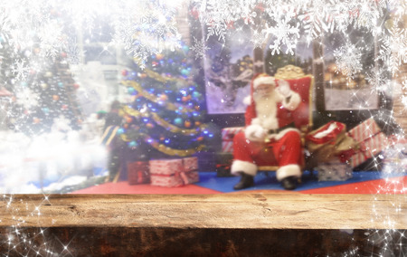 Christmas background table Standard-Bild - 114120811