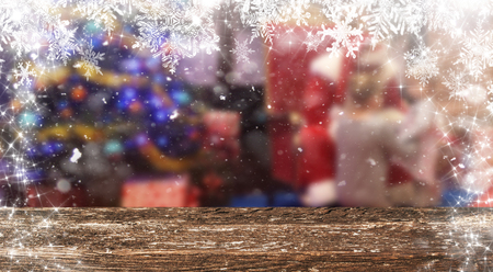 Christmas table background Standard-Bild - 114120818