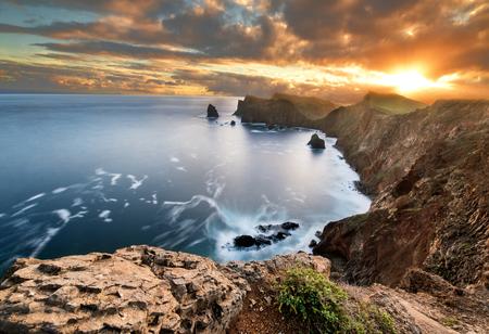 Landscape of Madeira island - Ponta de sao Lourenco Standard-Bild - 114120871