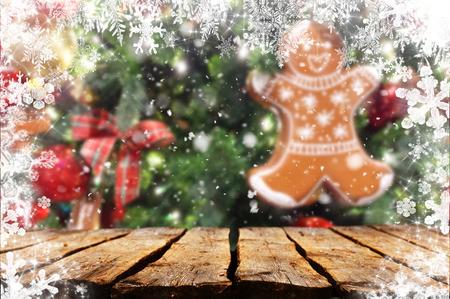 Christmas table background Standard-Bild - 114120878