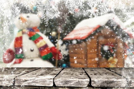 Christmas background table Standard-Bild - 114120879