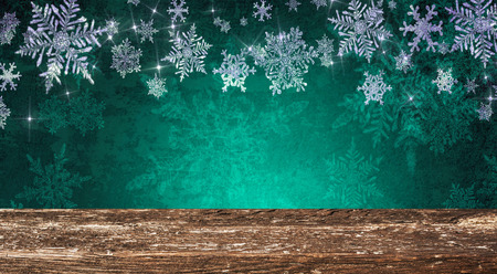 Christmas table background Standard-Bild - 114120898