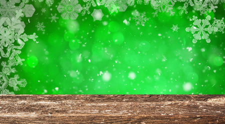 Christmas table background Standard-Bild - 114120899
