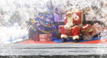 Christmas background table Standard-Bild - 114120903