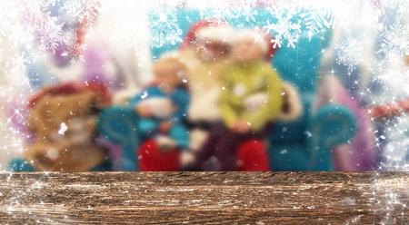 Christmas table background Standard-Bild - 114120904