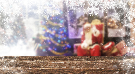 Christmas table background Standard-Bild - 114120906
