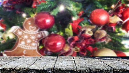 Christmas table background Standard-Bild - 114120908