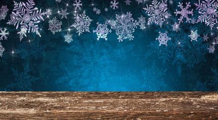 Christmas table background Standard-Bild - 114120909