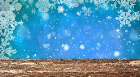 Christmas table background Standard-Bild - 114120913