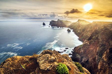 Landscape of Madeira island - Ponta de sao Lourenco Standard-Bild - 114121065