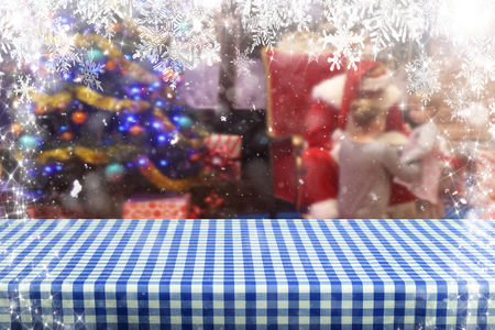 Christmas background table Standard-Bild - 114121066