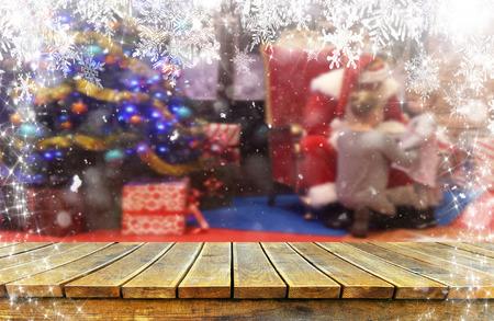 Christmas background table Standard-Bild - 114121068