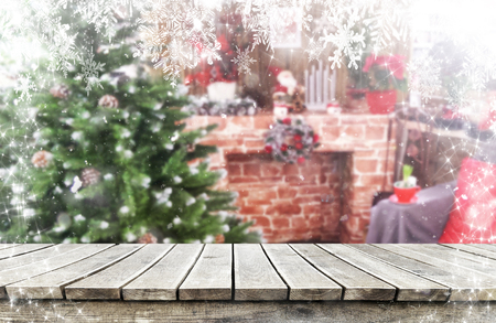 Christmas background table Standard-Bild - 114121077