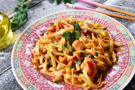 Asian food - bami goreng noodles