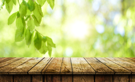 Empty wooden table background