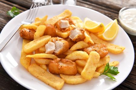 Fish and chips - comida rápida tradicional inglesa