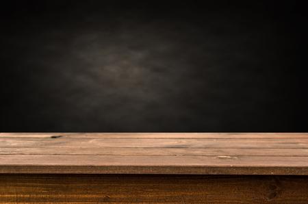 Fondo de mesa de madera vacía