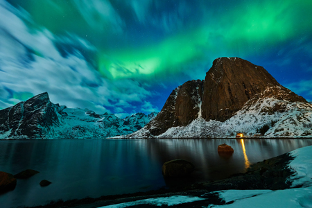 Aurora borealis over Norway 免版税图像