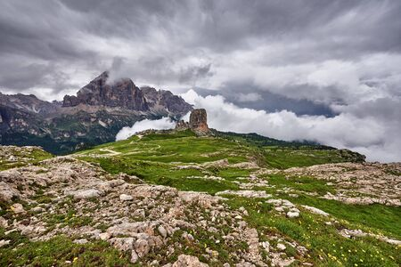 Summer landscape of high mountains Banco de Imagens