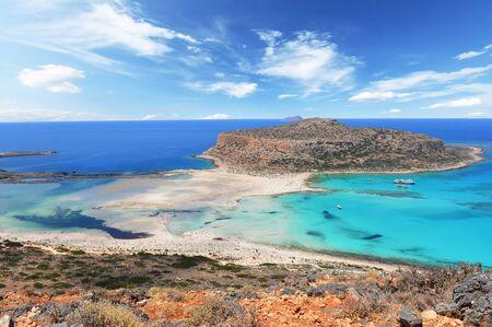 Famous Balos lagoon, Crete, Greece Stock Photo