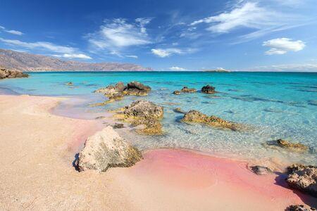 Famous Elafonisi beach on Greece island Crete Фото со стока