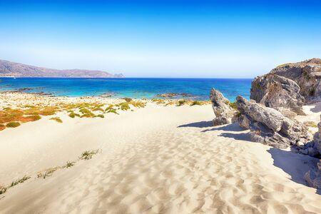 Mediterranean seashore landscape in summer