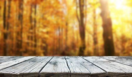Lege oude houten tafel achtergrond Stockfoto