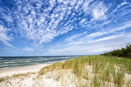 Beautiful summer landscape of sea coast and dunes