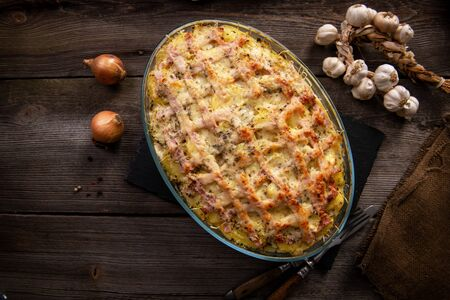 Delicious casserole from the oven Standard-Bild