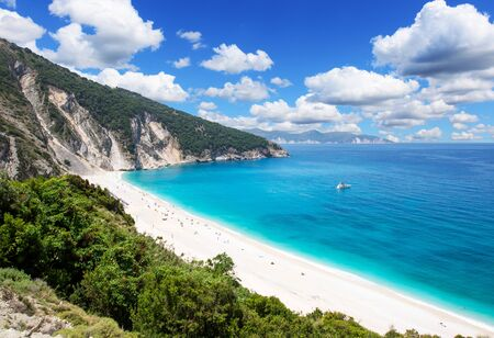 Famous beach Mirtos on Kefalonia island in Greece Standard-Bild