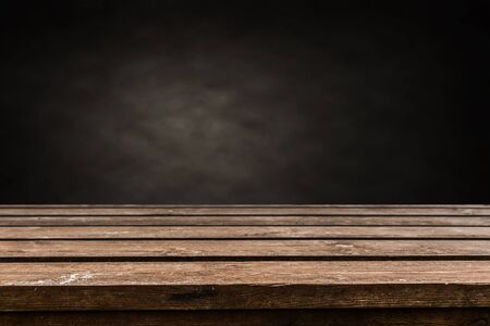 Empty old wooden table background