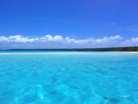 bask: Ripples in Turquoise Lagoon