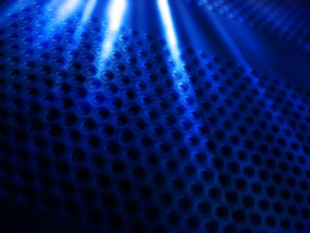 Abstract rays on mesh Stock Photo