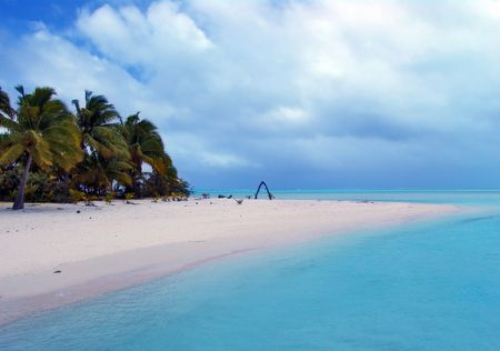 bask: Stunning Turquoise Lagoon on a cloudy day