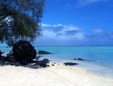 Black Rock on Beach photo
