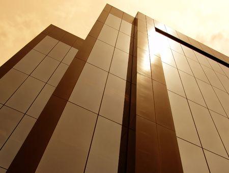 Sun Tinted Building