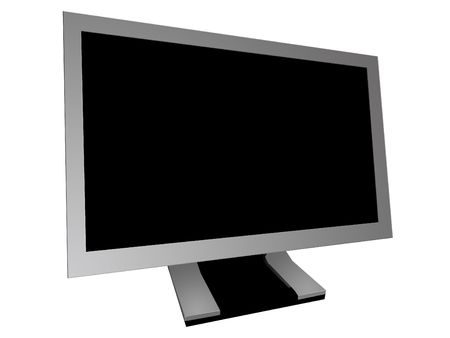 Wide Screen Monitor isolated Stock Photo