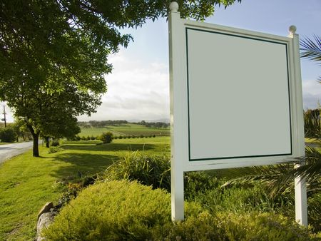 Blank Sign photo